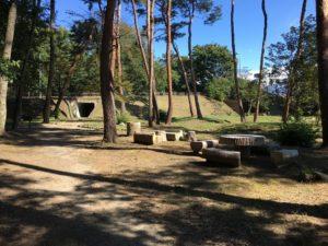 万力公園の椅子の場所